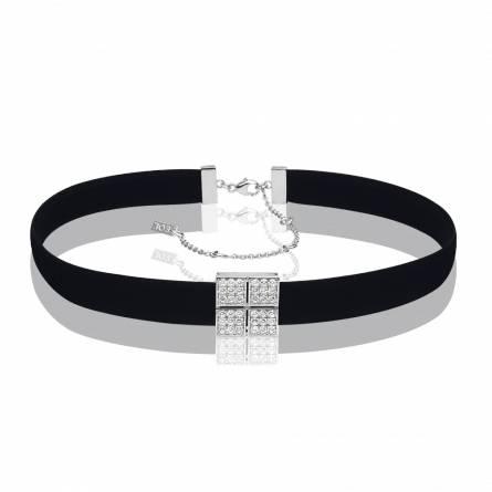 Bracelet femme tissu Dahyana noir