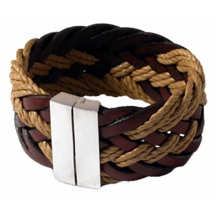 Bracelet Gladiateur Cuir et Chanvre