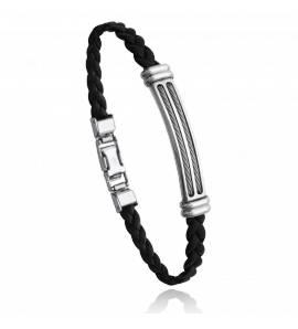Bracelet homme acier Aiwin noir