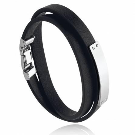 Bracelet homme acier Aren gris