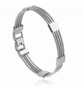Bracelet homme acier Arryn gris