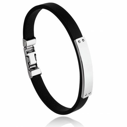 Bracelet homme acier Carleran noir