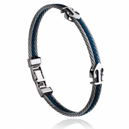 Bracelet homme acier Comus gris