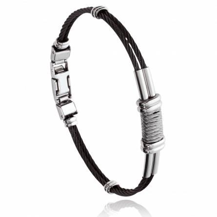 Bracelet homme acier Conall noir