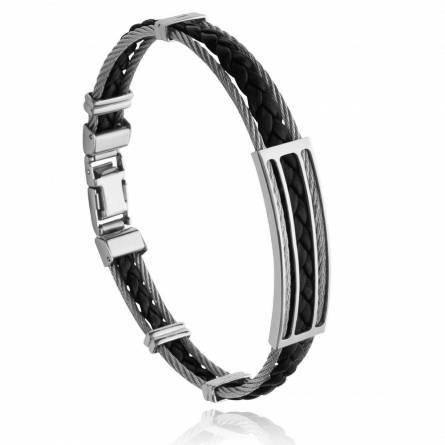 Bracelet homme acier Elajor noir