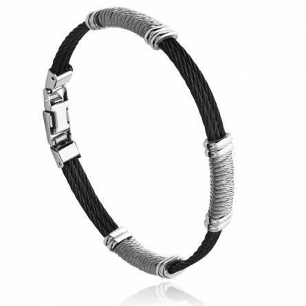 Bracelet homme acier Elion noir