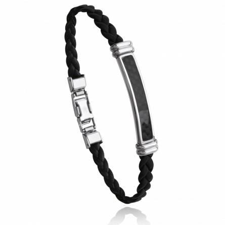 Bracelet homme acier Elrin noir