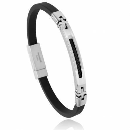 Bracelet homme acier Eriso noir