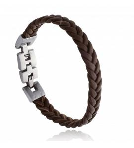 Bracelet homme acier Genrao marron