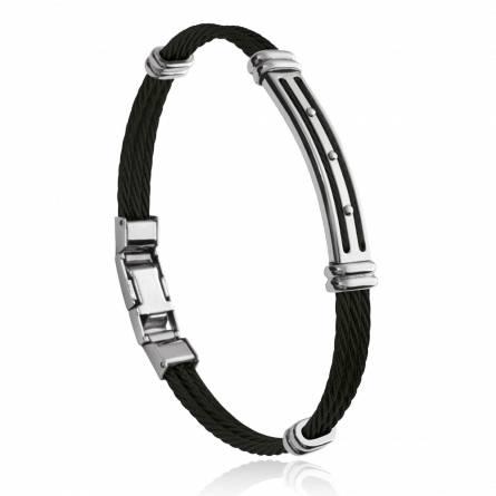 Bracelet homme acier Héli gris