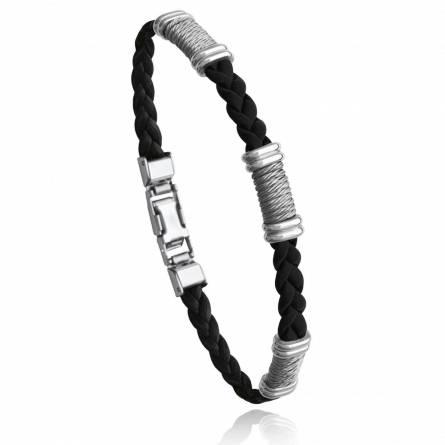 Bracelet homme acier Ilbryen noir
