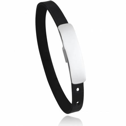 Bracelet homme acier Jerona noir