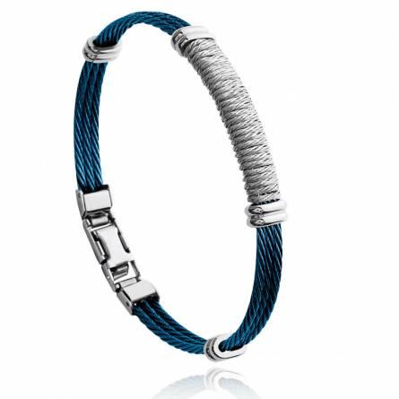 Bracelet homme acier Joril bleu