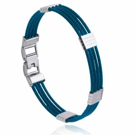 Bracelet homme acier Kenani bleu