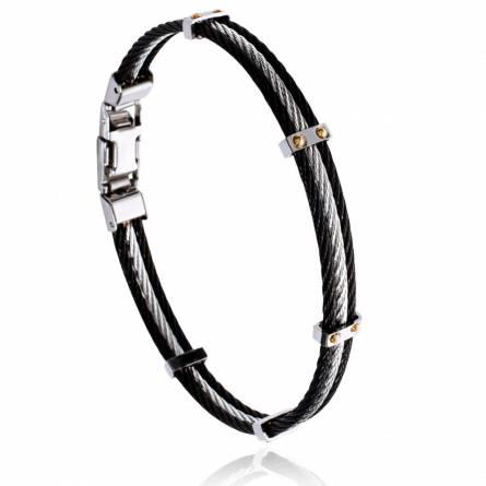 Bracelet homme acier Kildor gris