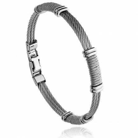 Bracelet homme acier Krissys gris
