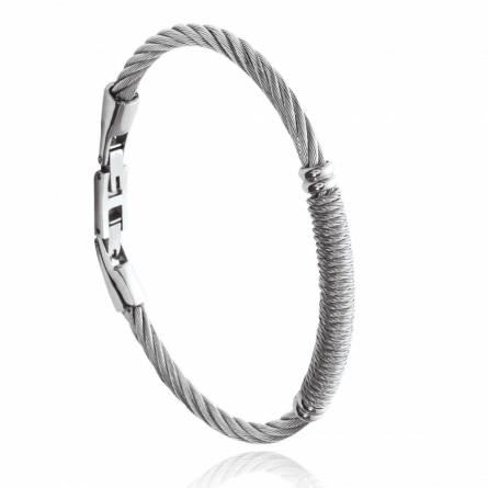 Bracelet homme acier Larrel gris