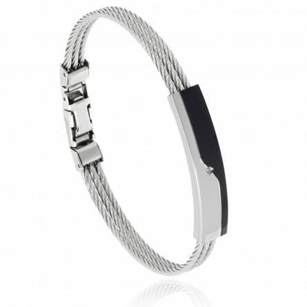 Bracelet homme acier Letrio gris
