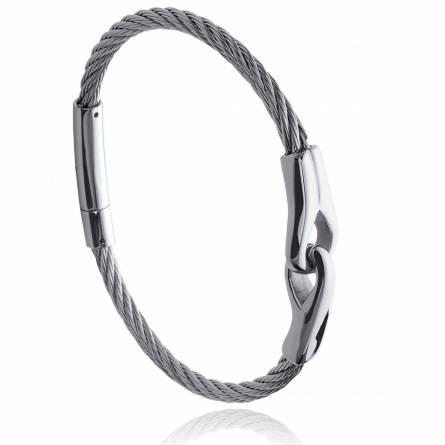 Bracelet homme acier Lonco gris