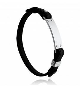 Bracelet homme acier Loras noir