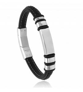 Bracelet homme acier Maden noir