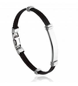 Bracelet homme acier Morlee noir