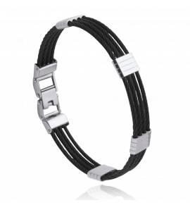 Bracelet homme acier Norze noir