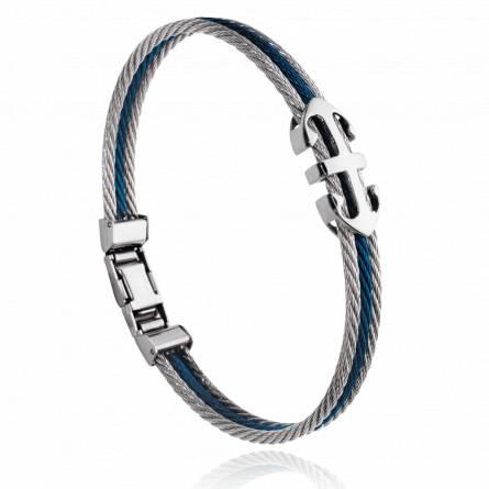 Bracelet homme acier Notus gris