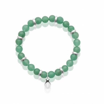 Bracelet homme acier Quartz vert