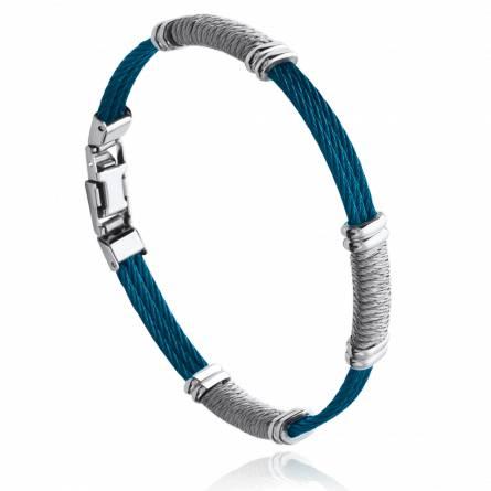 Bracelet homme acier Rolim bleu