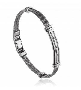 Bracelet homme acier Thallan gris