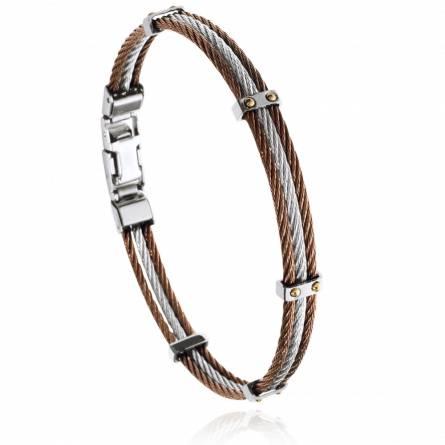 Bracelet homme acier Theni gris