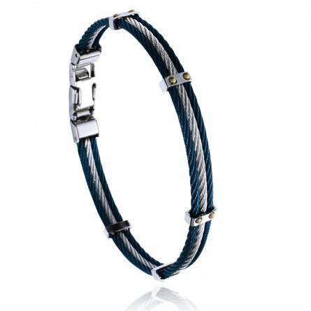 Bracelet homme acier Torwen gris