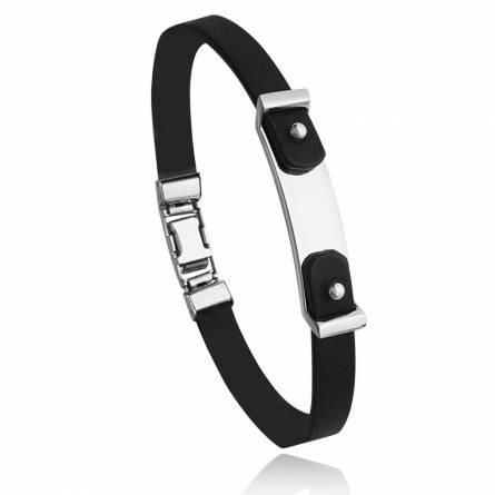 Bracelet homme acier Trisro noir