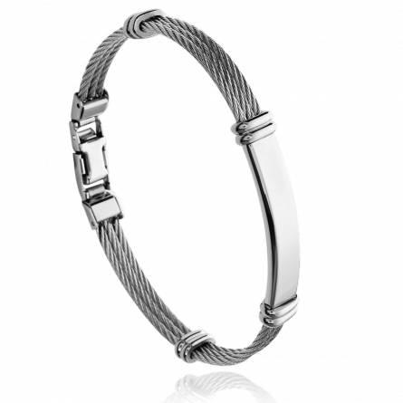 Bracelet homme acier Vamyar gris