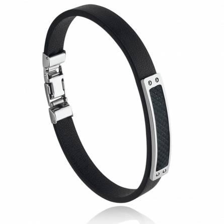 Bracelet homme acier Venali noir