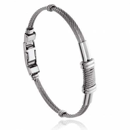 Bracelet homme acier Yesro gris