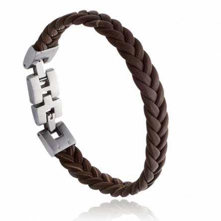 Bracelet homme cuir Alin marron