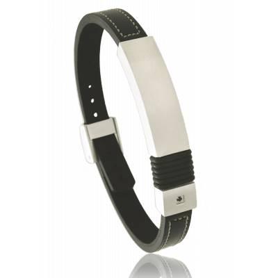 Bracelet homme cuir verone noir
