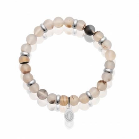Bracelet homme pierre Onyx Blanc blanc