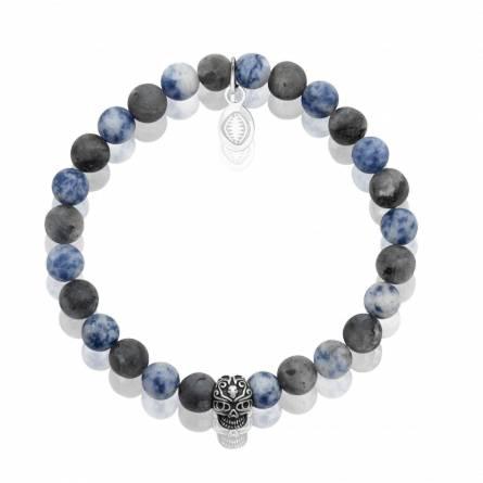 Bracelet homme pierre Sodalite 2 bleu