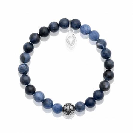 Bracelet homme pierre Sodalite 3 bleu