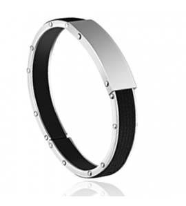 Bracelet homme silicone Harven noir