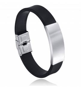 Bracelet homme silicone Letyn noir