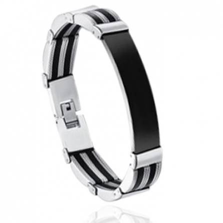 Bracelet homme silicone Roryn noir