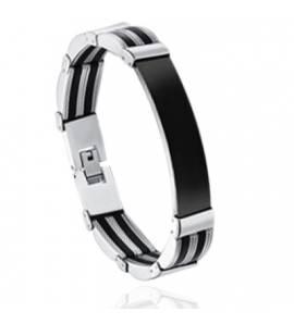Bracelet homme silicone Roryn noir