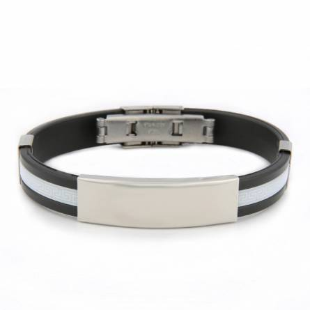 Bracelet homme silicone Valentin blanc
