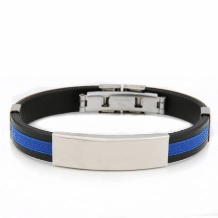 Bracelet homme silicone Valentin bleu