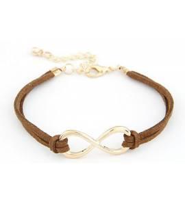Bracelet Infinity marron Vadim