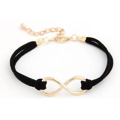 Bracelet Infinity Noir